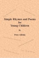 Cover for 'Simple Rhymes and Poems for Young Children'