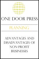 Cover for 'Advantages and Disadvantages of Non-Profit Businesses'