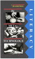 Cover for 'Literacy in Metal Technology'
