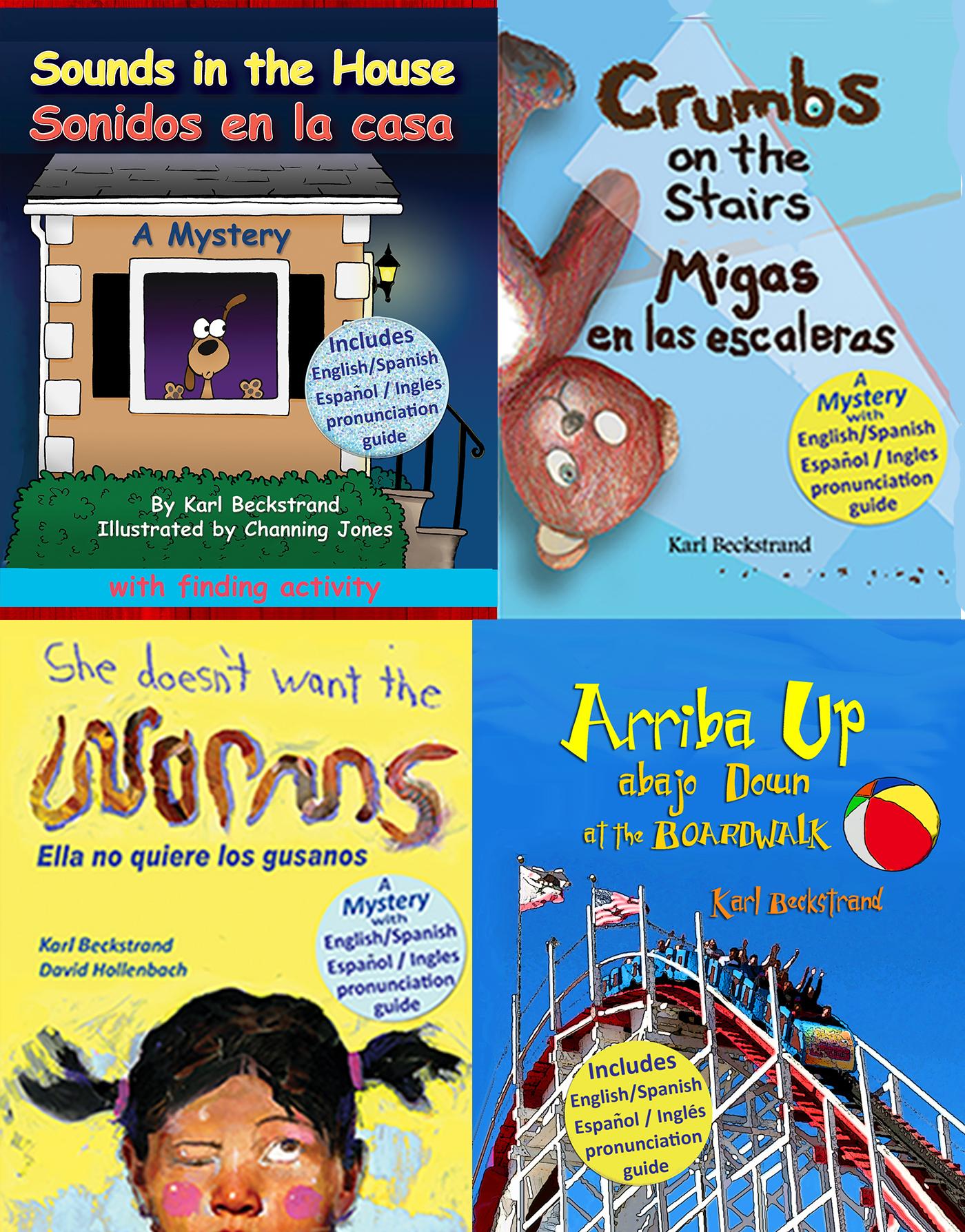 Karl Beckstrand - Four Spanish-English Children's Books (box set with pronunciation guide)