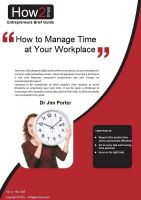 Cover for 'How to Manage Time at Your Workplace'