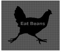 Cover for 'Eat Beans - Chicken Cross Stitch Pattern'