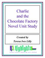Cover for 'Charlie and the Chocolate Factory Novel Unit Study'