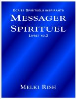 Cover for 'Messager Spirituel Livret No.2'