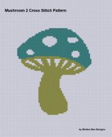 Cover for 'Mushroom 2 Cross Stitch Pattern'