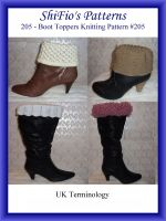 Cover for '205- Boot Toppers Crochet Patterns #205'