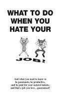 Cover for 'What To Do When You Hate Your Job'