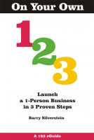 Cover for 'On Your Own 123: Launch a 1-Person Business in 3 Proven Steps'