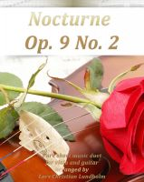 Cover for 'Nocturne Op. 9 No. 2 Pure sheet music duet for viola and guitar arranged by Lars Christian Lundholm'