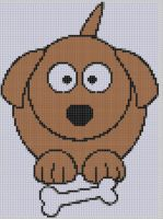 Cover for 'Dog and Bone Cross Stitch Pattern'