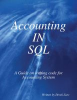 Cover for 'Accounting In SQL Coding'