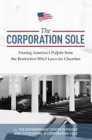 Cover for 'The Corporation Sole'