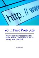 Cover for 'Your First Web Site'
