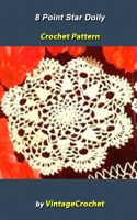Cover for '8 Point Star Doily Vintage Crochet Pattern eBook'