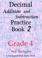 Cover for 'Decimal Addition and Subtraction Practice Book 2, Grade 4'