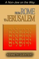 Cover for 'From Rome to Jerusalem'