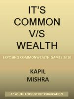 Cover for 'It's Common V/S Wealth'