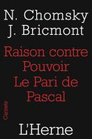 Cover for 'Raison contre pouvoir. Le Pari de Pascal'