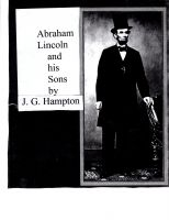 Cover for 'Abraham Lincoln and his Sons'