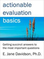 Cover for 'Actionable Evaluation Basics: Getting succinct answers to the most important questions [minibook]'