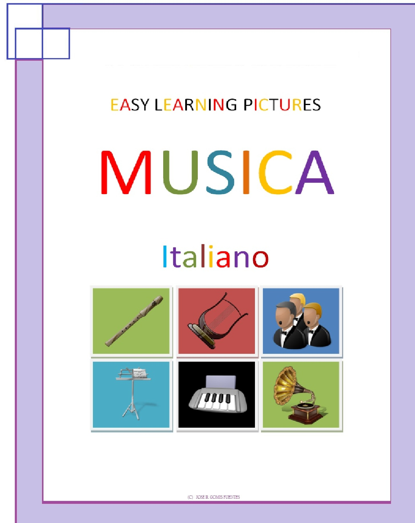 Jose Remigio Gomis Fuentes - Easy Learning Pictures. Musica.
