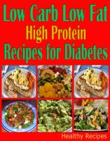 Cover for 'Low Carb Low Fat High Protein Recipes for Diabetes'
