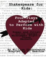 Cover for 'Shakespeare For Kids: Four plays adapted to perform with kids'