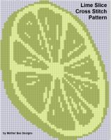 Cover for 'Lime Slice Cross Stitch Pattern'