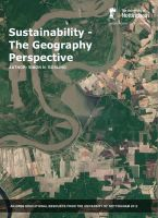 Cover for 'Sustainability: The Geography Perspective'