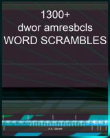 Cover for '1300+ Word Scrambles'