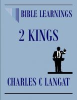 Cover for 'Bible Learnings 2 Kings'
