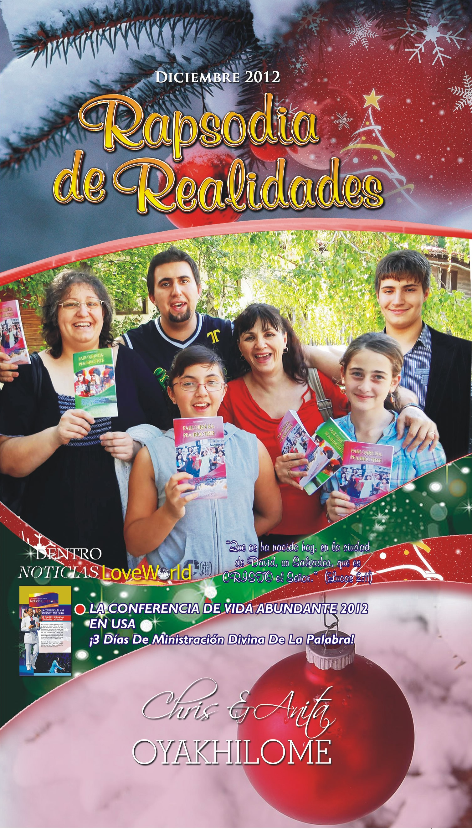 Pastor Chris and Anita Oyakhilome - Rhapsody of Realities December 2012 Spanish Edition