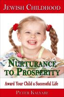 Cover for 'Jewish Childhood Nurturance to Prosperity'