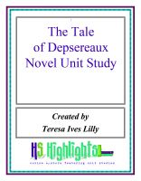 Cover for 'The Tale of Despereaux Novel Unit Study'