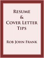 Cover for 'Resume & Cover Letter Tips'