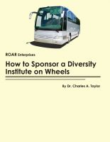 Cover for 'How to Sponsor a Diversity Institute on Wheels'