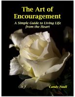 Cover for 'The Art of Encouragement: A Simple Guide to Living Life from the Heart'