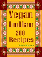 Cover for 'Vegan Indian 200 Recipes'