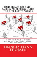 Cover for 'HUD Homes for Sale - Sales and Marketing for Real Estate Agents'