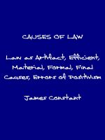 Cover for 'The Causes of Law'