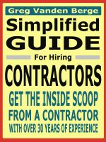 Cover for 'Simplified Guide For Hiring Contractors'