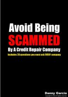 Cover for 'Avoid Being Scammed By A Credit Repair Company'