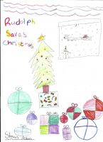 Cover for 'Rudolph Saves Christmas'