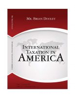 Cover for 'International Taxation in America'