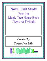 Cover for 'Novel Unit Study for the Magic Tree House Book Tigers at Twilight'