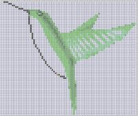 Cover for 'Green Hummingbird Cross Stitch Pattern'