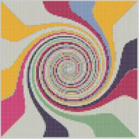 Cover for 'Rainbow Swirl Cross Stitch Pattern'