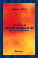 Cover for 'A Dictionary of English and Romanian Equivalent Proverbs'