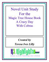 Cover for 'Novel Unit Study for the Magic Tree House Book  A Crazy Day With Cobras'