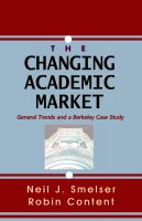 Cover for 'The Changing Academic Market: General Trends and a Berkeley Case Study'